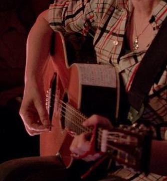 Monday Echo CHECK SHIRT cropped:guitar